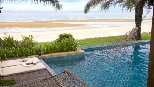 Hammock and pool, The Aleenta Pranburi, Cha Am and Hua Hin, Thailand