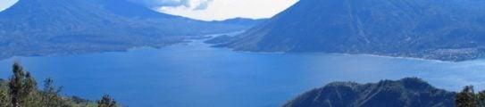 Lake Atitlan, Guatemala, surrounded by mountains