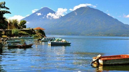 Boats on Lake Atitlan, Guatemala