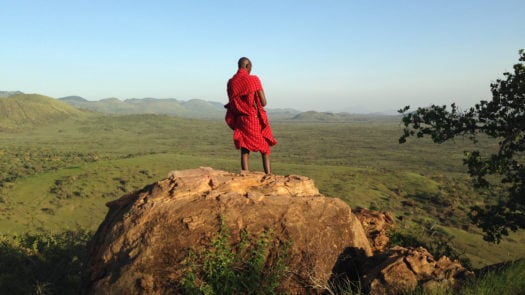 Maasai warrior at Chyulu Hills, Kenya