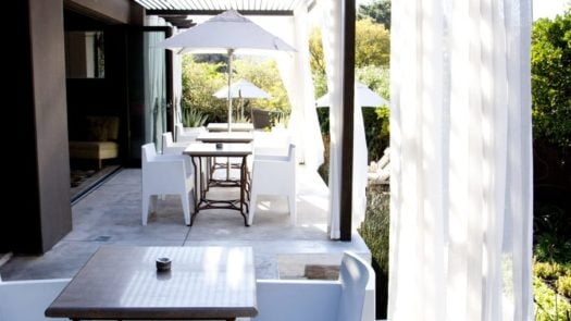 Breakfast patio, Kensington Place, Cape Town, South Africa